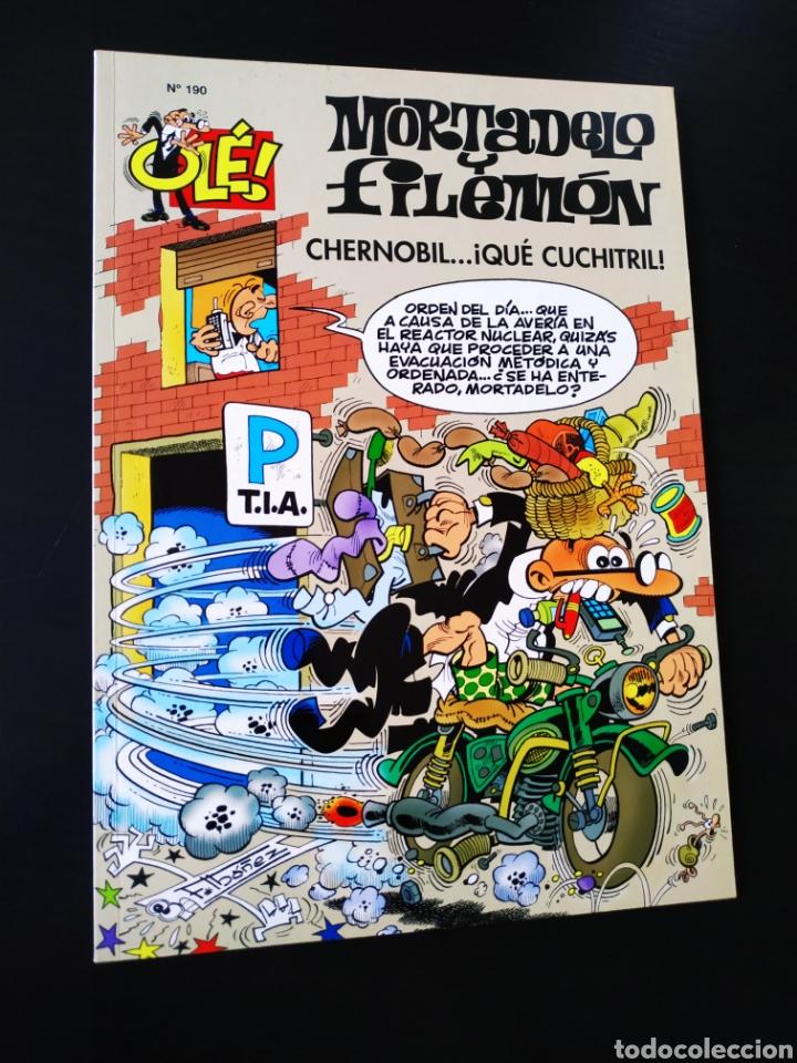 EXCELENTE ESTADO MORTADELO Y FILEMON 190 EDICIONES B 1° PRIMERA EDICION OLE (Tebeos y Comics - Ediciones B - Humor)