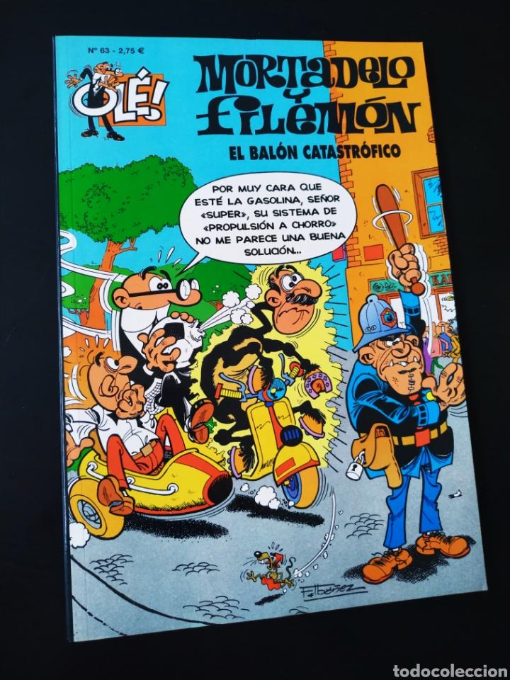 CASI EXCELENTE ESTADO MORTADELO Y FILEMON 63 EDICIONES B 4° CUARTA EDICION OLE (Tebeos y Comics - Ediciones B - Humor)
