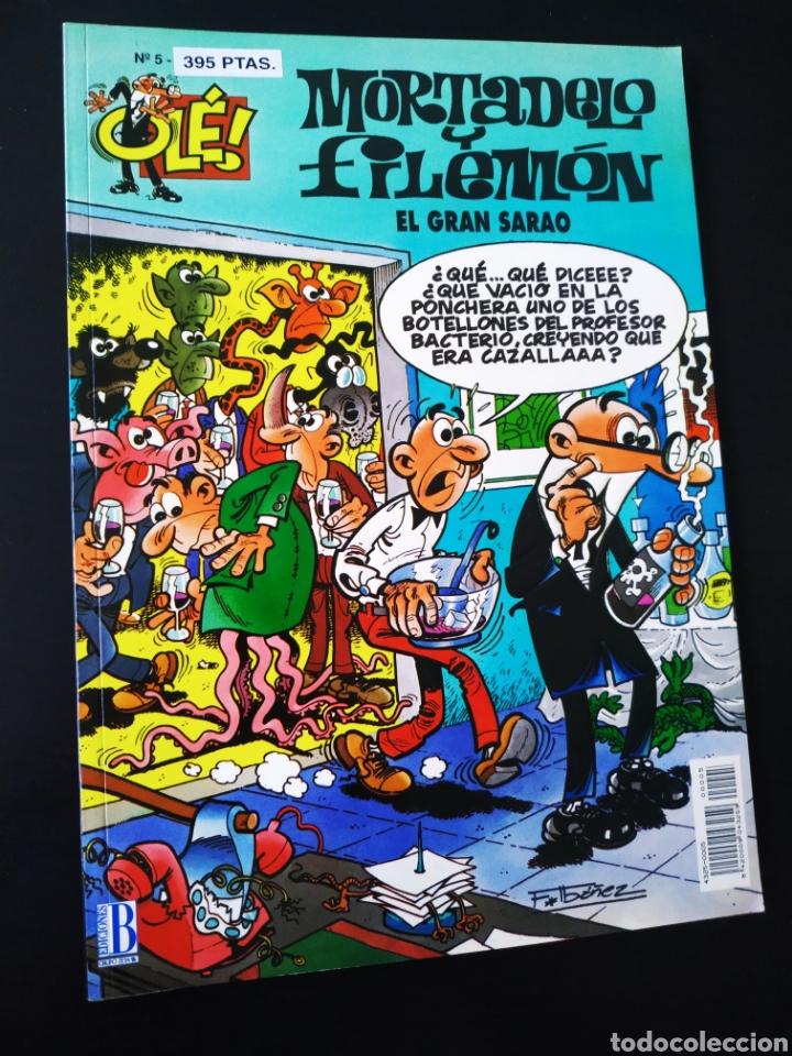 CASI EXCELENTE ESTADO MORTADELO Y FILEMON 5 EDICIONES B 1° PRIMERA EDICION OLE (Tebeos y Comics - Ediciones B - Humor)
