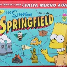 Cómics: LOS SIMPSON, GUIA DE SPRINGFIELD - 1999~1ª ED. - MATT GROENNING - EDICIONES B - PJRB. Lote 206226996