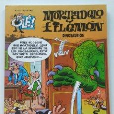 Cómics: CÓMIC OLÉ! MORTADELO Y FILEMÓN Nº 81 DINOSAURIOS - GRUPO ZETA EDICIONES B 1999. Lote 206980512