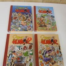 Comics : SUPERHUMOR MORTADELO PORTADAS , COLECCIÓN COMPLETA , TOMOS 51 , 53 , 55 Y 57. Lote 207077493