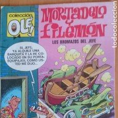 Cómics: COLECIÖN OLE, MORTADELO Y FILEMÓN LOS BROMAZOS DEL JEFE, NUM. 112-M2 EDICIONES B, 1987. Lote 207215135