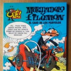 Cómics: COLECCIÓN OLÉ! N°38/MORTADELO Y FILEMÓN: EL CASO DE LOS PÁRVULOS (EDICIONES B, 2006). POR CASANYES.. Lote 209898556