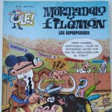 Cómics: CÓMIC OLÉ! MORTADELO Y FILEMÓN Nº 93 LOS SUPERPODERES - GRUPO ZETA EDICIONES B 2000. Lote 210147940