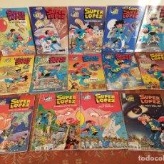 Cómics: 14 COMICS SUPER LOPEZ OLE PRIMERAS EDICIONES,EN MUY BUEN ESTADO,VER DETALLES,FOTOGRAFIAS.. Lote 210420142