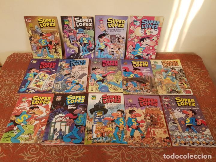 14 COMICS SUPER LOPEZ OLE AÑOS 80 PRIMERAS EDICIONES,EN ACEPTABLE ESTADO,VER DETALLES. (Tebeos y Comics - Ediciones B - Otros)