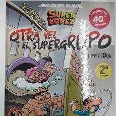 Cómics: MAGOS DEL HUMOR 156: SUPERLOPEZ - OTRA VEZ EL SUPERGRUPO - EFEPÉ, JAN - REBAJADO. Lote 210435361