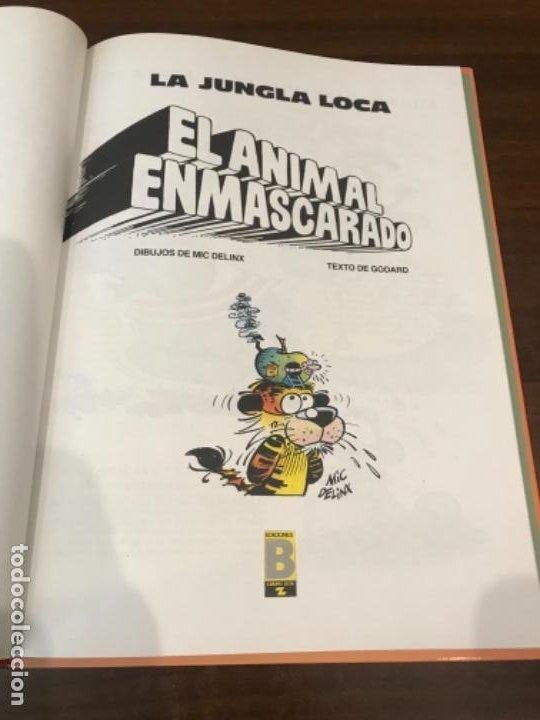 Cómics: LA JUNGLA LOCA. Nº 1. EL ANIMAL ENMASCARADO. MIC DELINX - GODARD. EDICIONES B 1989. - Foto 2 - 211684834