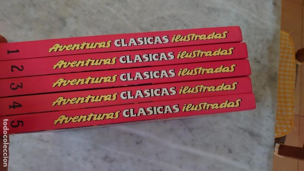 AVENTURAS CLÁSICAS ILUSTRADAS 5 TOMOS EDICIONES B PRPM 42 (Tebeos y Comics - Ediciones B - Clásicos Españoles)