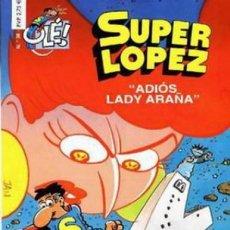 Cómics: SUPER LOPEZ Nº 36 ADIOS LADY ARAÑA (JAN) EDICIONES B - IMPECABLE - OFM15. Lote 212059260