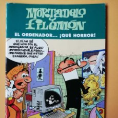 Comics: MORTADELO Y FILEMÓN. EL ORDENADOR... ¡QUÉ HORROR! - FRANCISCO IBÁÑEZ. Lote 212780335