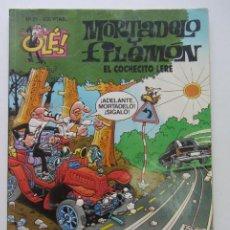 Comics: MORTADELO Y FILEMON , COLECCION OLE - Nº 21 EL COCHECITO LERE EDICIONES B. CX62. Lote 212891473
