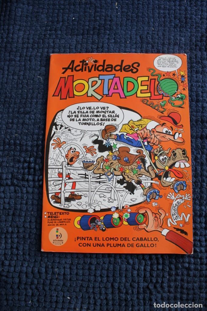 ACTIVIDADES MORTADELO : PINTA EL LOMO DEL CABALLO CON UNA PLUMA DE GALLO (Tebeos y Comics - Ediciones B - Otros)