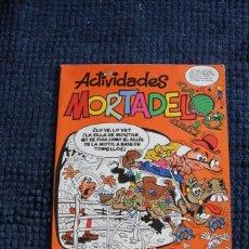 Cómics: ACTIVIDADES MORTADELO : PINTA EL LOMO DEL CABALLO CON UNA PLUMA DE GALLO. Lote 213497536