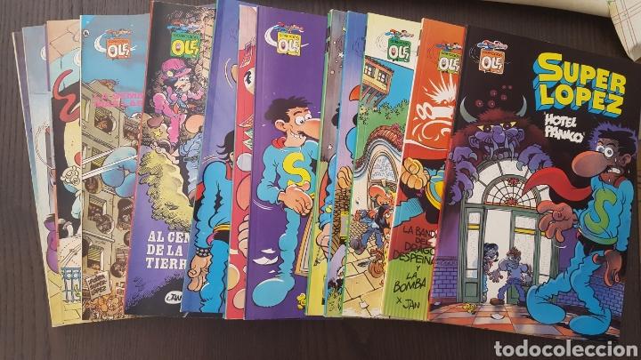 LOTE SUPERLOPEZ (SUPER LOPEZ) 1 AL 19 - BRUGUERA Y EDICIONES B - LA MAYORIA 1ª EDICION - COL. OLE (Tebeos y Comics - Ediciones B - Humor)