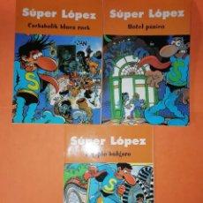 Cómics: SUPER LOPEZ. PERIPLO BULGARO. HOTEL PANICO. CACHABOLIK BLUES ROCK. EDICIONES B 2003. Lote 214643095