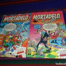 Cómics: MORTADELO Nº 36 Y SUPER MORTADELO Nº 17 CON BILLETES MORTADELO. EDICIONES B 1987. BUEN ESTADO.. Lote 215107261