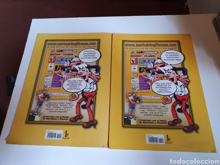 Cómics: Ole, mortadelo y filemón 2 tomos del 50 aniversario, número 90 y 91, del año 2008, ediciones B. - Foto 2 - 216875326