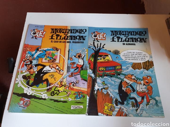 OLE, MORTADELO Y FILEMÓN 2 TOMOS DEL 50 ANIVERSARIO, NÚMERO 90 Y 91, DEL AÑO 2008, EDICIONES B. (Tebeos y Comics - Ediciones B - Humor)