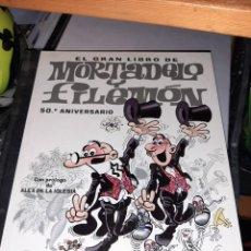 Cómics: EL GRAN LIBRO DE MORTADELO Y FILEMON CON CD , MUY BUEN ESTADO COMO NUEVO. Lote 217810675