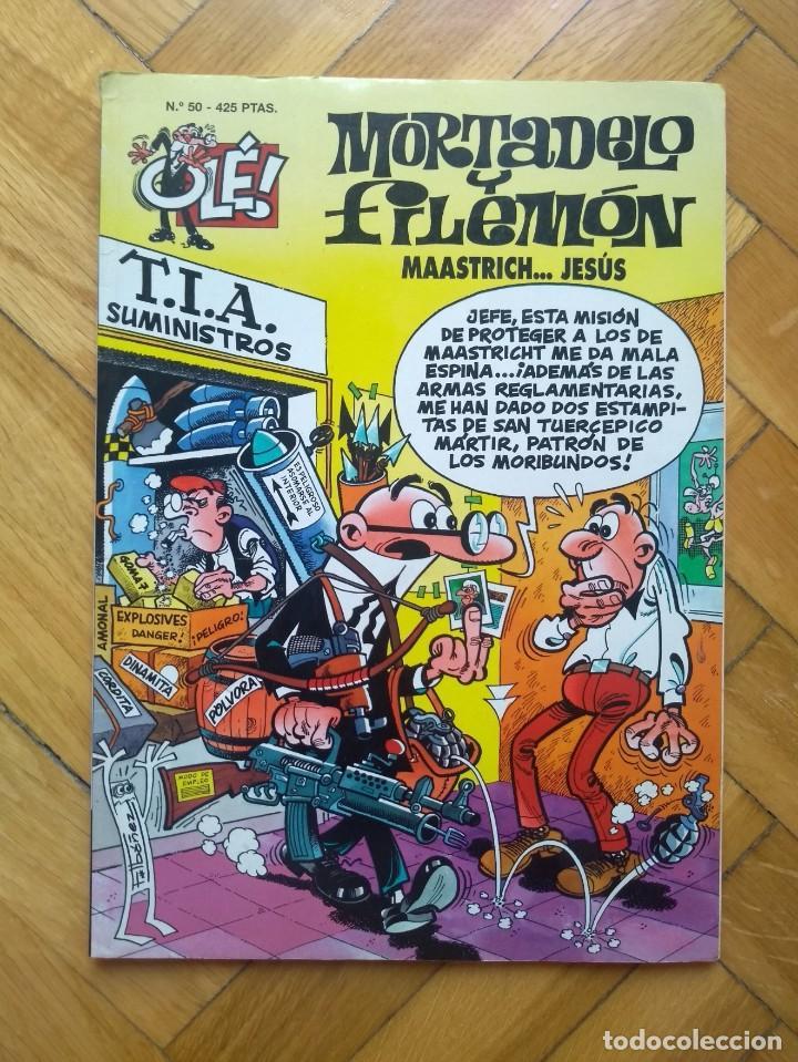 COLECCIÓN OLÉ MORTADELO Y FILEMÓN Nº 50: MAASTRICH ... JESÚS - 3ª EDICIÓN 1999 (Tebeos y Comics - Ediciones B - Clásicos Españoles)