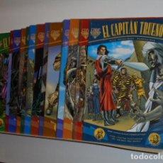 Cómics: LOTE 17 NUMEROS EL CAPITAN TRUENO FANS Nº 1 AL 17 VICTOR MORA Y FUENTES MAN - EDICIONES B OFERTA. Lote 218038175