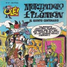 Cómics: COMIC COLECCION OLE MORTADELO Y FILEMON EL QUINTO CENTENARIO EDICIONES B. Lote 218503648