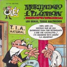 Cómics: COMIC COLECCION OLE MORTADELO Y FILEMON EDICIONES B LOS DEMAS TODOS MALTRECHOS. Lote 218504211