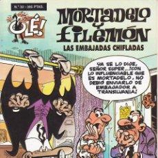 Cómics: COMIC COLECCION OLE MORTADELO Y FILEMON EDICIONES B LAS EMBAJADAS CHIFLADAS. Lote 218504336