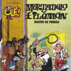 Cómics: COMIC COLECCION OLE MORTADELO Y FILEMON EDICIONES B MISION DE PERROS. Lote 218504401