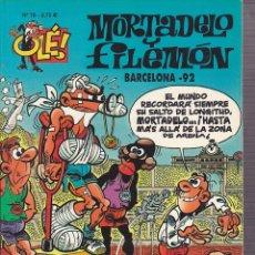 Cómics: COMIC COLECCION OLE MORTADELO Y FILEMON EDICIONES B BARCELONA 92. Lote 218504530