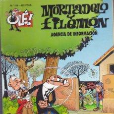Cómics: COMIC COLECCION OLE MORTADELO Y FILEMON EDICIONES B AGENCIA DE INFORMACION. Lote 218504622