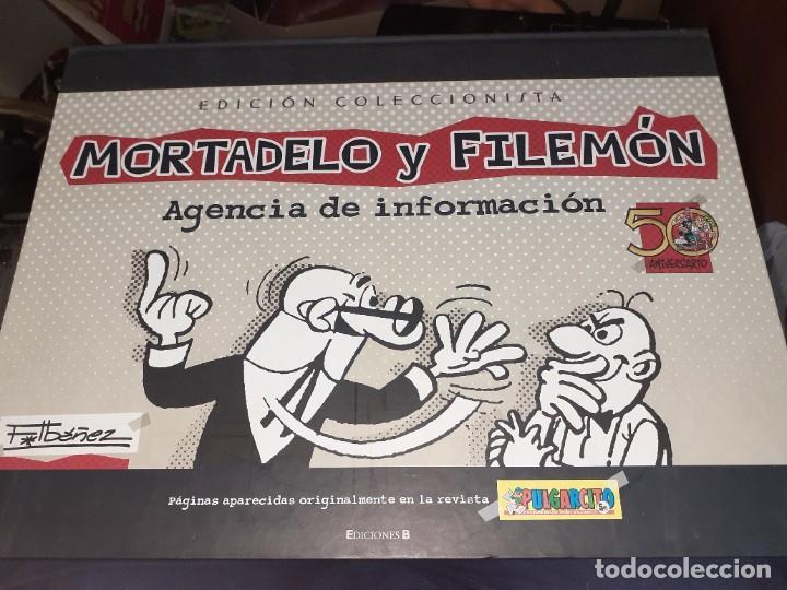 MORTADELO Y FILEMÓN,AGENCIA DE INFORMACIÓN.EDICIÓN COLECCIONISTA 50 ANIVERSARIO.F.IBÁÑEZ. (Tebeos y Comics - Ediciones B - Humor)