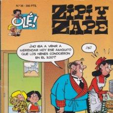 Cómics: ZIPI Y ZAPE Nº 36 EDITADO POR EDICIONES B EN 1995 PRIMERA EDICIÓN. MUY RARO. Lote 219525608