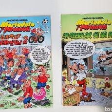 Cómics: MAGOS DEL HUMOR / MORTADELO Y FILEMÓN / 137 MUNDIAL 2010 / 144 ¡A RECICLAR SE HA DICHO! / EDICI. B. Lote 220245822