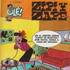 Cómics: ZIPI Y ZAPE N° 11 COLECCION OLÉ 425 PTAS AÑO 2000.ESCOBAR.EDICIONES B. Lote 220615950