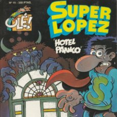 Cómics: SUPER LOPEZ Nº 19 HOTEL PANIKO JAN PRIMERA EDICION 1993 OLÉ. Lote 220915892