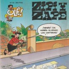 Cómics: Nº 43 ZIPI Y ZAPE. OLÉ 1º EDICIÓN ABRIL 1996 ESCOBAR. Lote 220916456