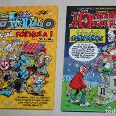 Cómics: MORTADELO: DOS TOMOS TAPA DURA NUEVOS :ESPECIAL FORMULA 1 + ESPECIAL OLIMPIADAS. Lote 220998253