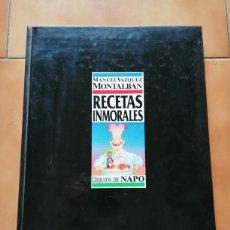 Cómics: RECETAS INMORALES - MANUEL VAZQUEZ MONTALBAN - DIBUJOS DE NAPO - 1988. Lote 221508516