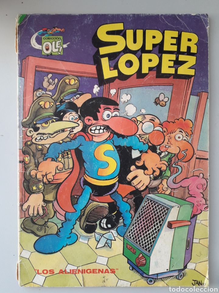 SUPER LÓPEZ LOS ALIENÍGENAS COLECCIÓN OLÉ JAN FATIGADO (Tebeos y Comics - Ediciones B - Humor)