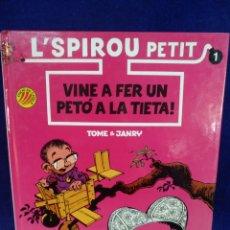 Cómics: L'SPIROU PETIT, N° 1, VINE A FER UN PETÓ A LA TIETA. Lote 221574262
