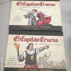 Cómics: EL CAPITÁN TRUENO: CHANDRA EL USURPADOR - EL CAUTIVO / VÍCTOR MORA - AMBROS / EDICIÓN NUMERADA. Lote 221947046