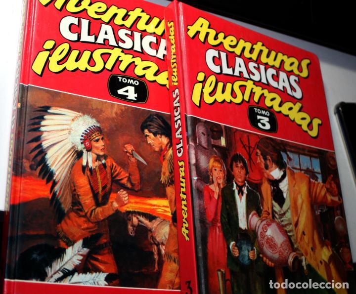 AVENTURAS CLASICAS ILUSTRADAS TOMOS Nº 03 Y Nº 04 (DE 5) (Tebeos y Comics - Ediciones B - Otros)