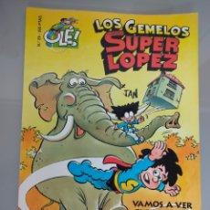 Cómics: SUPERLOPEZ OLE TROQUELADO 29 LOS GEMELOS 1996 1° EDIC. DIFÍCIL. Lote 222126466