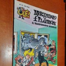 Cómics: MORTADELO Y FILEMÓN. EL TRANSFORMADOR METABÓLICO. COLECCIÓN OLÉ 57. RÚSTICA. BUEN ESTADO. Lote 222705795