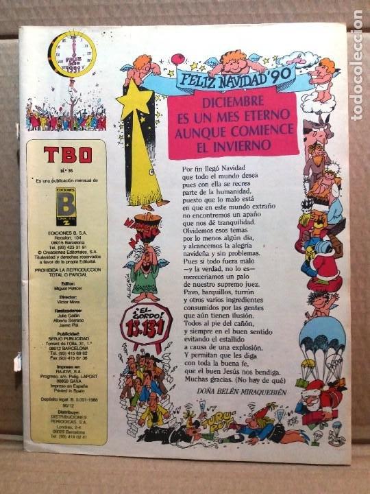 TBO Nº 35 (Tebeos y Comics - Ediciones B - Humor)