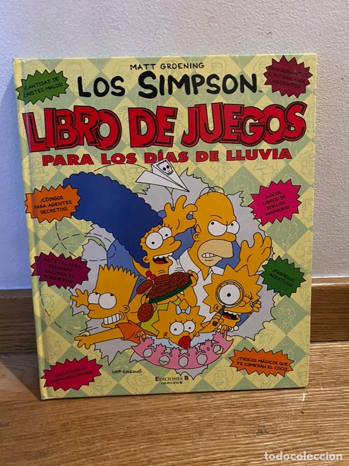 LOS SIMPSON LIBRO DE JUEGOS PARA LOS DÍAS DE LLUVIA (Tebeos y Comics - Ediciones B - Otros)
