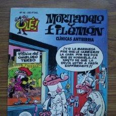 Comics : OLÉ Nº 46 MORTADELO Y FILEMÓN: CLÍNICAS ANTIBIRRIA (PORTADA CON RELIEVE) EDICIONES B PRIMERA EDICIÓN. Lote 227805545